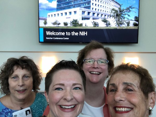 Nora, Jamie, Shelley and Marge at NIH NCI 2018